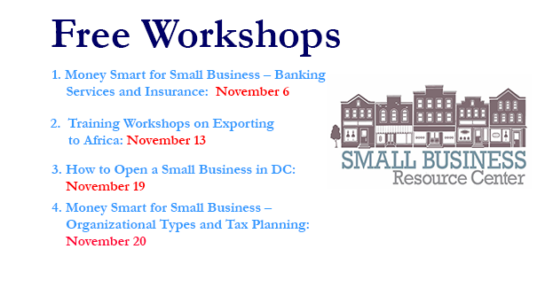 Free Workshops - Small Business Resource Center