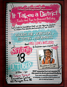 Download the It Takes a District event flyer.
