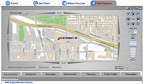 DC Guide locator map for Real Property