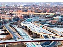 11th Street Bridge Project - Aerial view of the brdige and roadways from the south